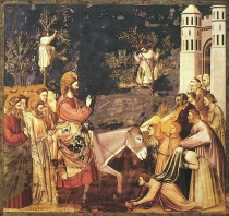 Entry into Jerusalem by Giotto di Bondone