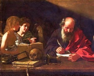 St Jerome in his Study by Bartolomeo Cavarozzi, early 1600s